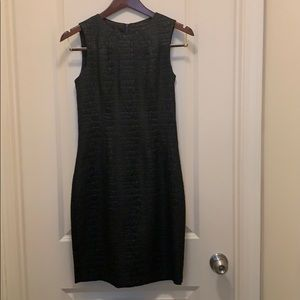 Black Elie Tahari lizard texture dress.